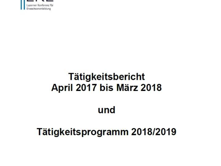 Tätigkeitsbericht LKE 2017/18